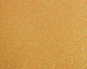 FINE glitter fabric sheet. Apricot A4 sheet. JR09137