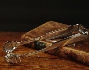 Antique Silver Sugar Tongs / 1830 -1850 /John Fries Silversmith of Philadelphia / Coin Silver