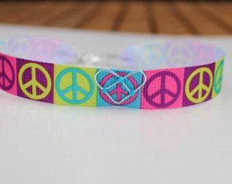 Peace and Love Choker