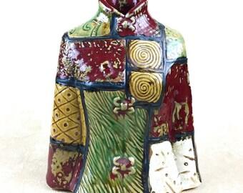 Glazed Pottery Patchwork Jacket Vase