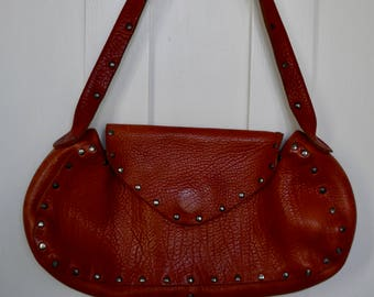 Western Style Bag / Vintage Handbag / Studded Bag / Boho Handbag / Vegan leather bag