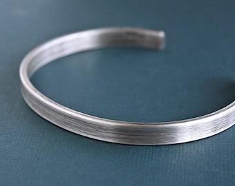 Mens Silver Bracelet, Mens Cuff Bracelet, Sterling Silver Bangle