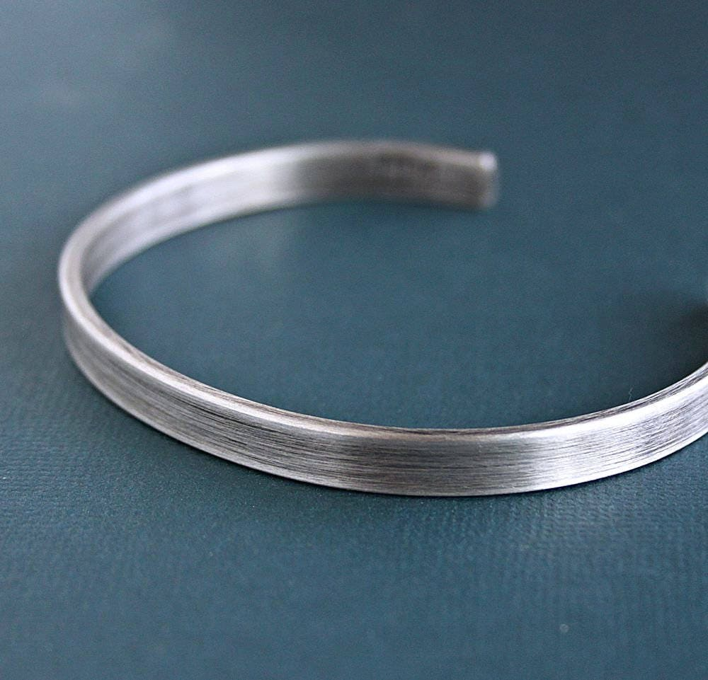 Mens Silver Bracelet Mens Cuff Bracelet Sterling Silver