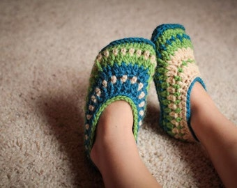 Crochet Slipper Pattern - Galilee Slippers (Child-Adult Sizes)