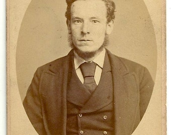 1875 Sheffield England Id'd cdv Stringfellows Fargate Renton Mansley antique photo