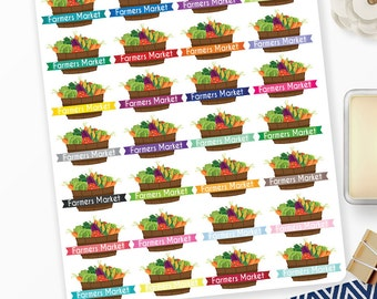 Planner Stickers Farmer's Market for Erin Condren, Happy Planner, Filofax, Scrapbooking