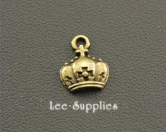 20pcs Antique Bronze Crown Charms  A1307