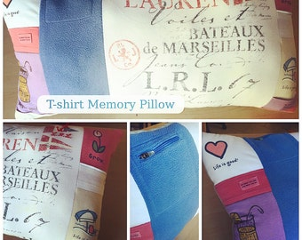 Memory Pillow made with Shirts and Sweatshirts