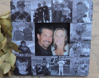Father's Day Collage Picture Frame, Custom Anniversary Photo Frame, Dad Birthday Gift, Personalized Photo Collage, Unique Mother's Day Gift