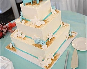 Beach wedding cake topper etsy more colors beach wedding cake junglespirit Choice Image