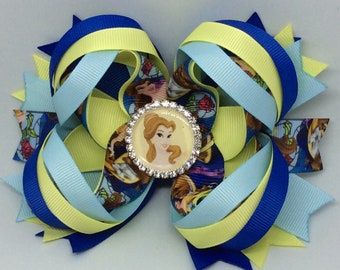 Belle Beauty and the Beast Hairbow