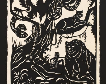 Jungle Book Papercut - Hand-Cut Silhouette