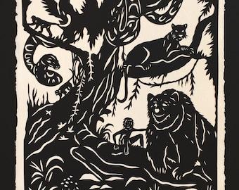 Jungle Book Papercut - Hand-Cut Silhouette