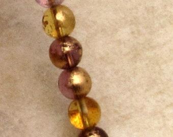 Czech Glass Druk Beads, 6mm Round, Venetian Mix, 30 Pc. C500