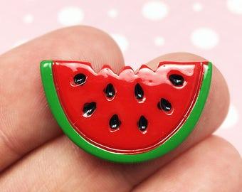 Watermelon Kawaii Resin Flat back, Fruit, Summer, Food (R004)