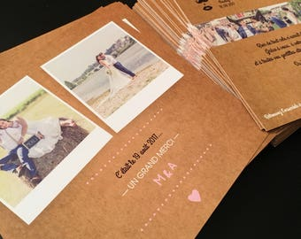Thank you wedding kraft card