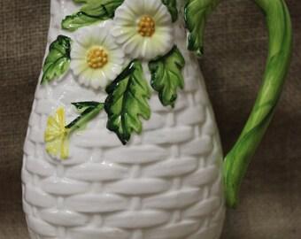 Ceramic Flower Pitcher Vase