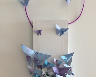 Origami butterflies painting