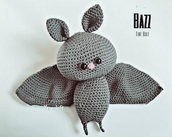 Bazz The Bat Amigurumi pattern (crochet pattern)