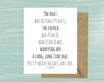 You're the Jim to my Pam, Jim and Pam, Wedding, Engagement, Card, Printable, The Office, TV Show, Jim Halpert, Quote, Instant, Jim Boat