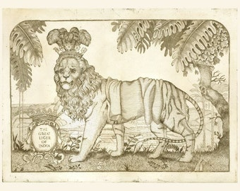 The Great Liger of India - Ltd Edition Etching 50