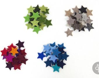 Quadu 20 colourful felt stars
