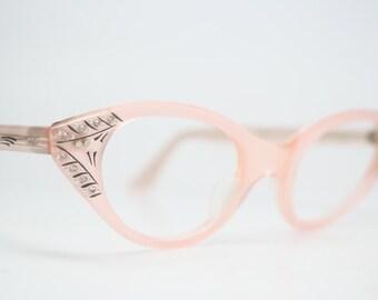 Pink Rhinestone cat eye glasses rhinestone cateye frames