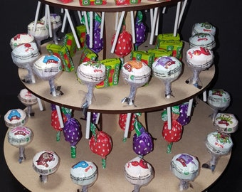 Round 3 Tier Lolly Pop Stand, wedding, birthdays, Sweet,special ocaision, Party