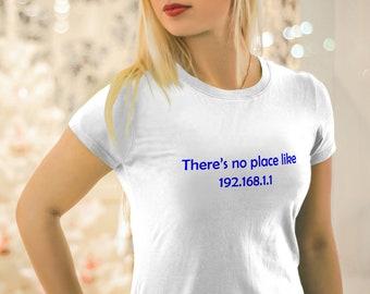 Womens Nerd Shirt, 3XL Womens Shirt, Funny Womens IT Shirt, Computer Shirt for Womens, 192.168.1.1