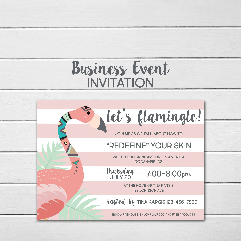 Rodan and Fields Invitation Custom Party Invite BBL