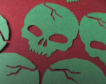 Skull vinyl stickers, diecut skull embellishments, car sticker, laptop sticker, phone decal, indoor outdoor use, glossy skull vinyl stickers