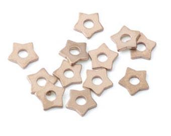 Brass Star Rivet Accent (12 Pieces)