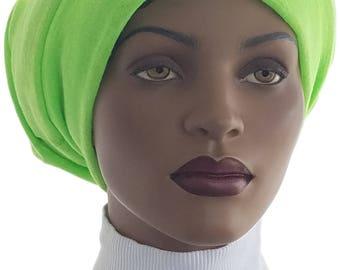 Huggee Locks Beanie™ Beanie Cap Hat Neon Lime Sweater Knit Rasta locs Tam Rastafari Dreadie Handmade
