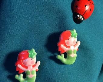 Cute Red Headed Mermaid Girl Clog Shoe Charms
