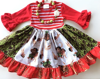 Moana dress Disney Princess dress Christmas dress Princess dress Momi boutique custom dress
