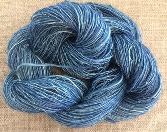 Indigo Dyed Ramie Handspun Yarn 50 gr Spin Flora vegan yarn fiber Free Shipping