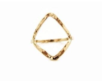 Diamond Shape Ring, Geometric Jewelry, Diamond Shape Gold Ring, Stacked Ring, Shape Diamond Ring, Geometric Ring, Minimalist Ring, Boho Ring