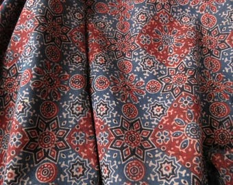Ajrakh fabric by the yard