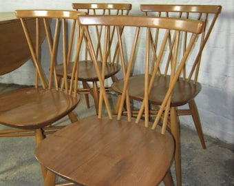 Hand finished Ercol 376 Lattice candlestick chair