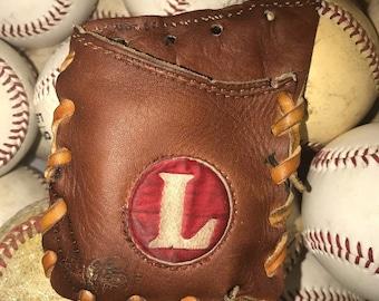 Repurposed Baseball Glove Wallet - Louisville Slugger