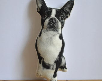 Silkscreen Boston Terrier Pillow