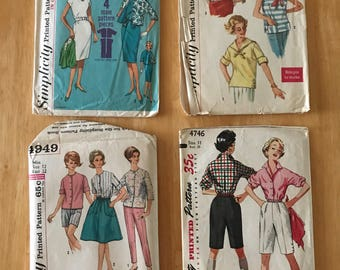 Lot of 4, 1950's Sewing Patterns