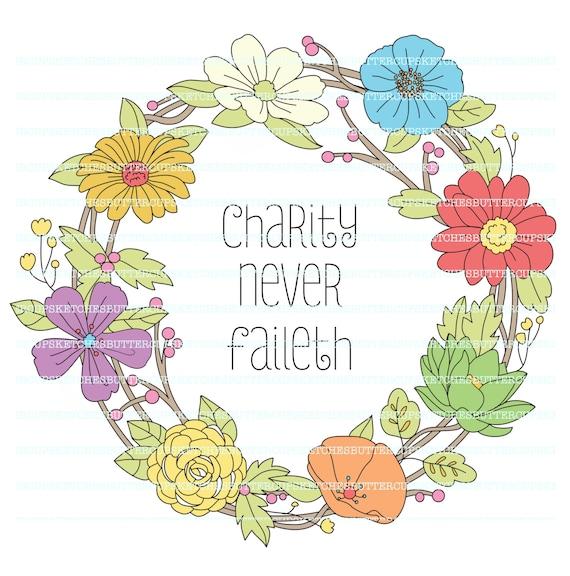 relief society charity never faileth wreath rh etsy com relief society logo clip art lds relief society logo clip art