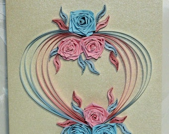 Wedding Card, greeting card, quilling