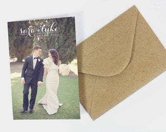 Wedding Thank You Cards: Calligraphy