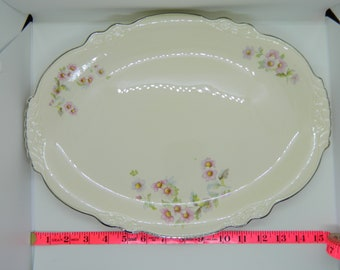 "Homer Laughlin. Virginia Rose.  15"" X 8.5""Oval Platter."