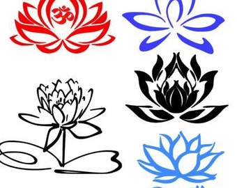 Lotus Yoga SVG Files, Studio and Photoshop Compatible Files, Instant Download