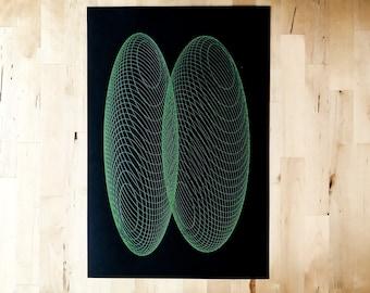 Geometric Screen Print Art