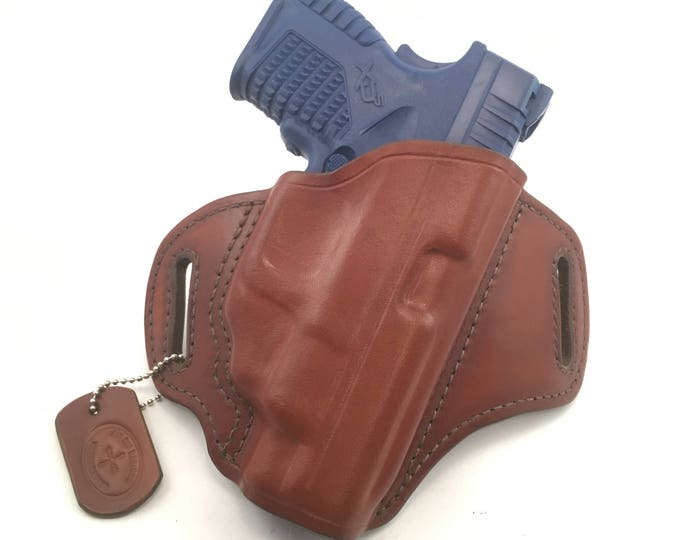 Springfield XDS 4.0 with Crimson Trace Laserguard - Handcrafted Leather Pistol Holster