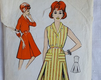 Vintage 1960s dress pattern.  Blackmore 9592.  Shirtdress.  Size 36inch bust.  1960s.
